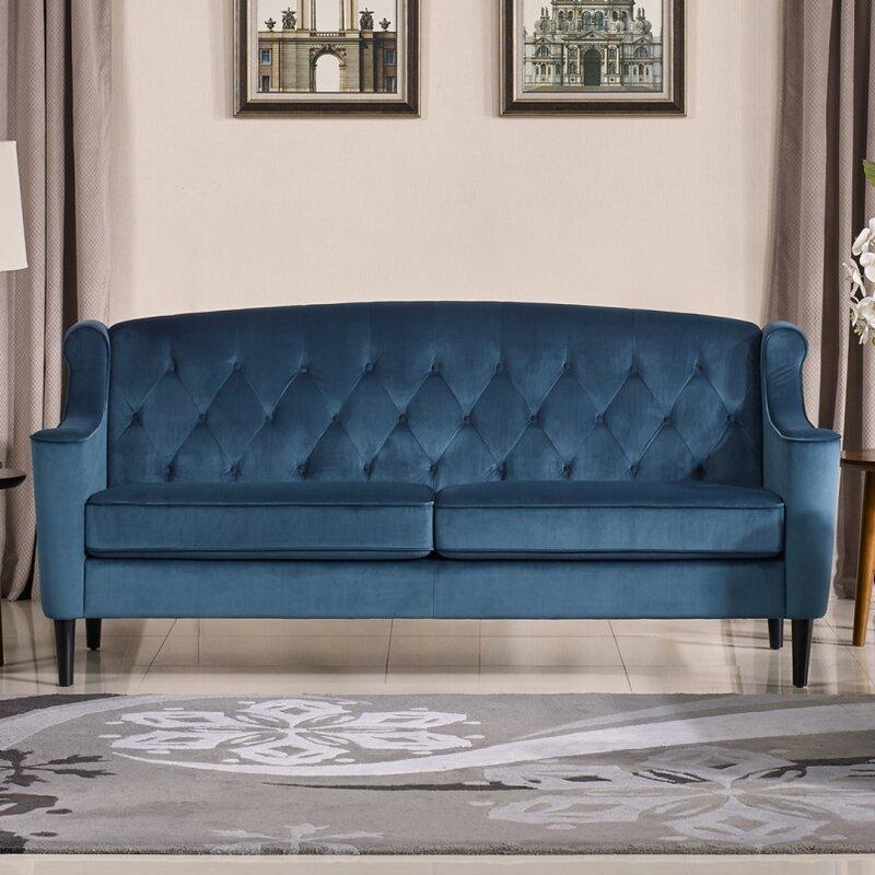 Velour Sofa mercer41 crewkerne velour standard sofa reviews wayfair
