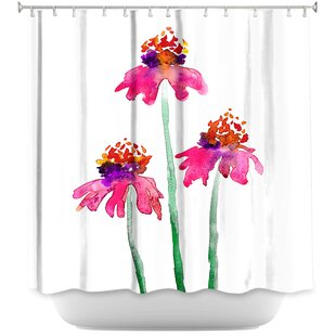 Echinacea Flowers Single Shower Curtain