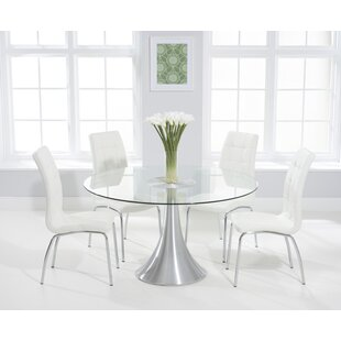 Crovetti Dining Set With 4 Chairs By 17 Stories