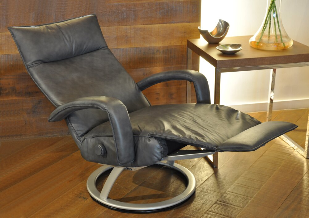 Gaga Leather Manual Swivel Recliner & Gaga Leather Manual Swivel Recliner u0026 Reviews | AllModern islam-shia.org