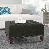 Camarena Tufted Cocktail Ottoman by Charlton Home®