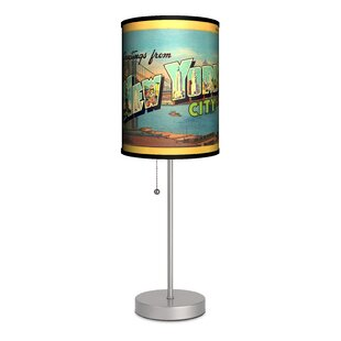 Deals Travel New York City Postcard 20 Table Lamp By Lamp-In-A-Box
