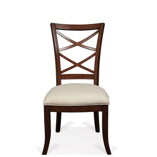 Bay Isle Home Alfred Bay Xx-Back Upholstered Seat Dining Chair (Set of 2)
