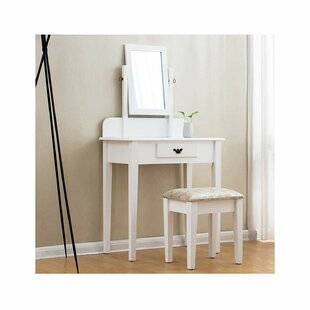 Yates Dressing Table Set With Mirror By Brambly Cottage