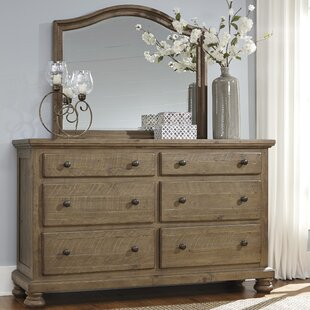 Greyleigh Trudy 6 Drawer Double Dresser with Mirror Image