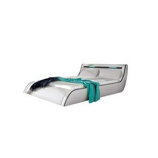 Bonifacio Modern Upholstered Storage Platform Bed