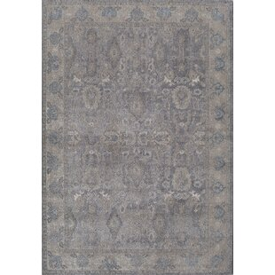 Compare prices Estelle Thespian Slate Gray/Ivory Area Rug By Rugs America