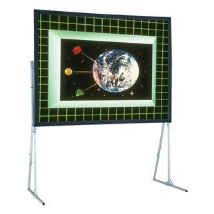 Flexible Matte White 220 diagonal Portable Projection Screen by Draper