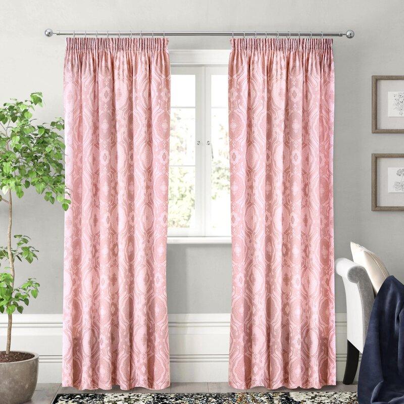 "Silk Brocade fabric pink x metallic gold Color 44""BRO711[4]"