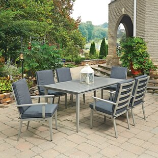 Red Barrel Studio Dinan 7 Piece Dining Set with Cushion