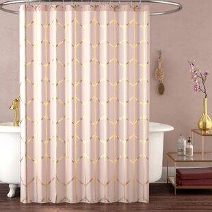 Mangesh Microfiber Printed Metallic Shower Curtain by Willa Arlo Interiors