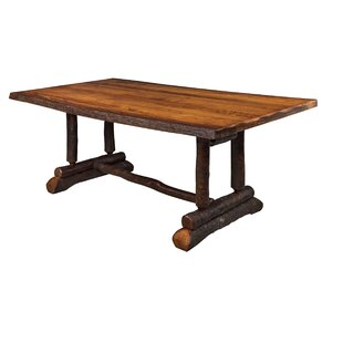 Raby Bendwood Slab Solid Wood Dining Table Loon Peak