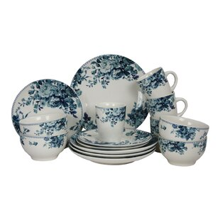 Rose 16 Piece Dinnerware Set Service for 4  sc 1 st  Wayfair & Roscher Dinnerware | Wayfair