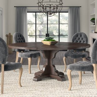 West Orange Solid Wood Dining Table Greyleigh