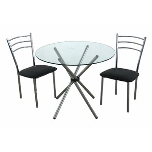 Zeinab Dining Set With 2 Chairs By 17 Stories
