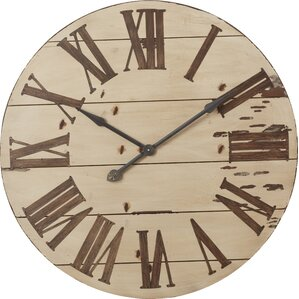 marlene round oversized wall clock