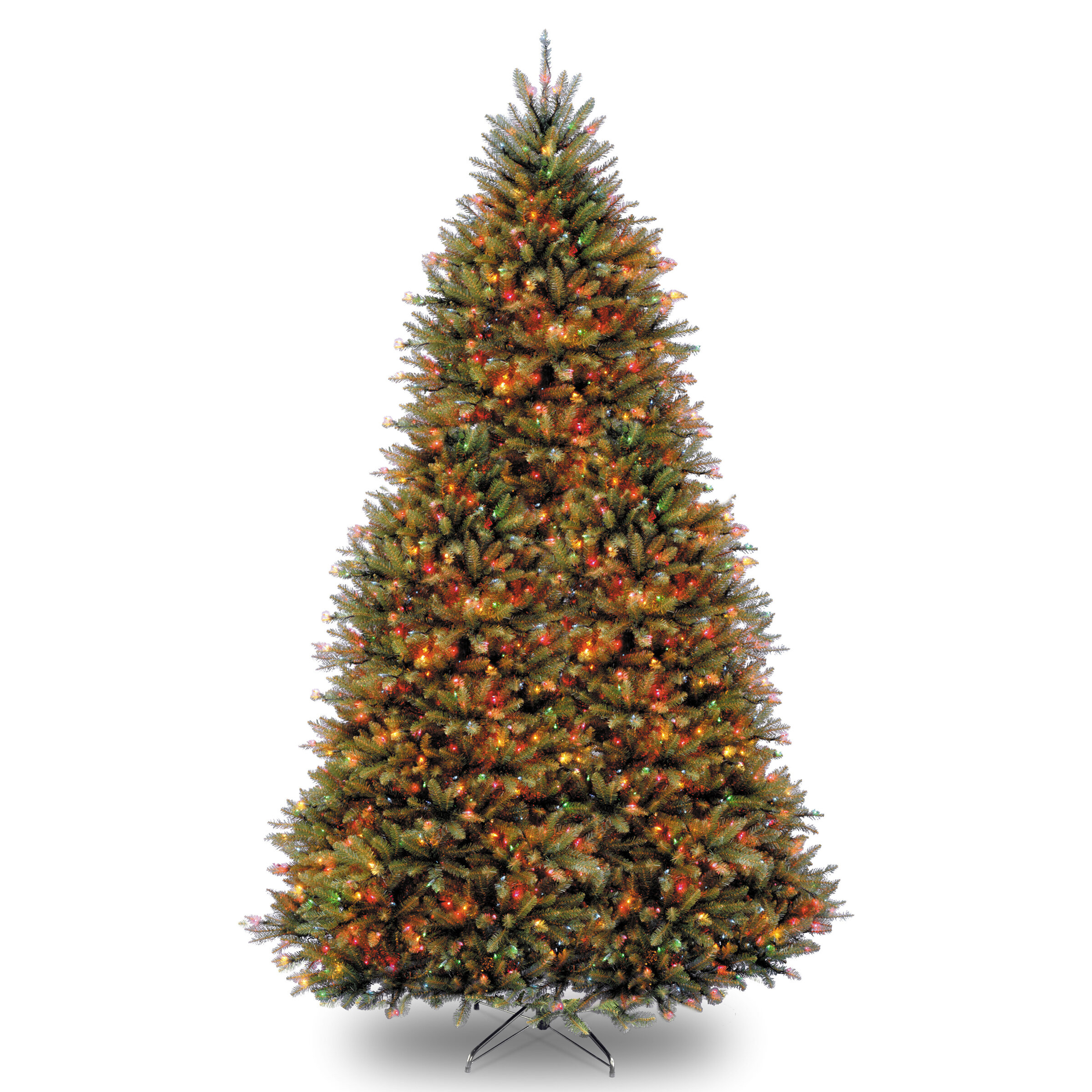 three posts fir hinged green artificial christmas tree with 1200 led whitemulticolor lights reviews wayfair