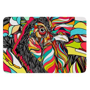 Tropical Cock by Danny Ivan Bath Mat
