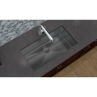 Elkay Crosstown 32 L X 19 W Undermount Kitchen Sink Reviews Wayfair