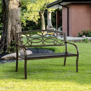 Swirling Steel Bench By Sol 72 Outdoor