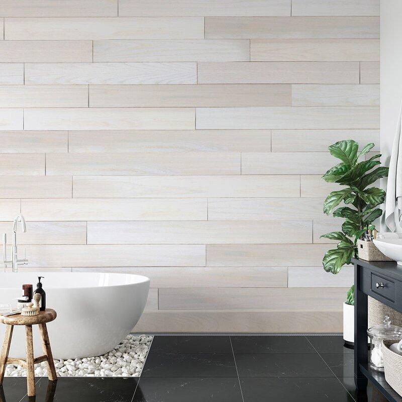 Novogratz Genuine 5 1 X 47 Peel And Stick Engineered Wood Wall Paneling Reviews Wayfair