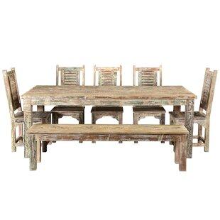 Wyandotte 11 Piece Solid Wood Dining Set by Bloomsbury Market
