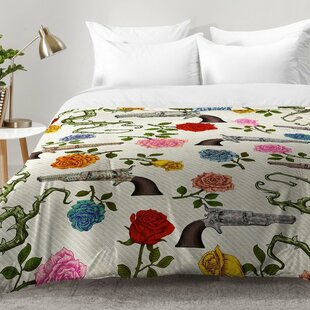 East Urban Home Sweet Guns and Roses Comforter Set