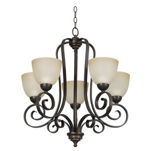 Radionic Hi Tech Molly 5-Light Shaded Chandelier