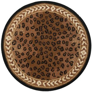 Bridges Hand-Hooked Wool Brown Area Rug by World Menagerie
