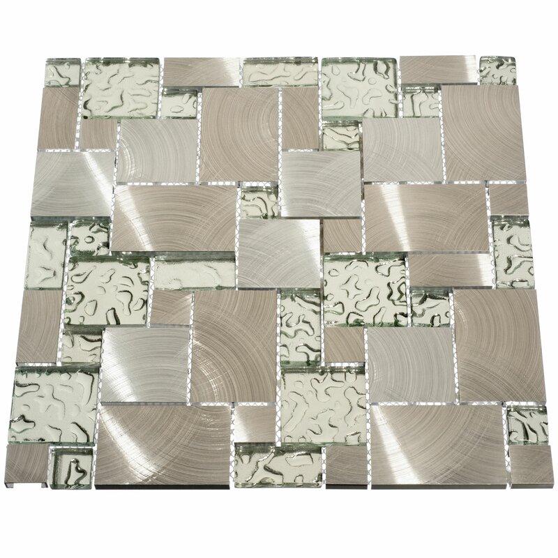 Giorbello Venetian Random Sized Gl And Metal Mosaic Tile In