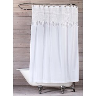 Bargain Vintage Crochet Cotton Shower Curtain By Pom Pom At Home