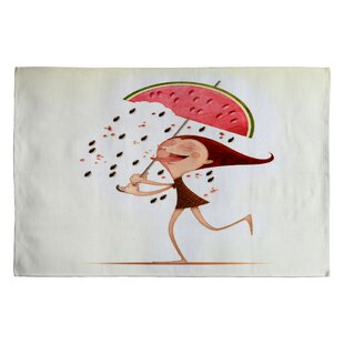 Reviews Jose Luis Guerrero Watermelon Novelty Rug By Deny Designs