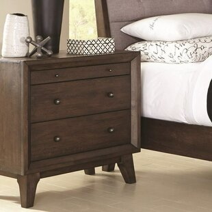 Chaz Top Felt-Lined 3 Drawer Nightstand