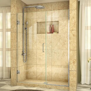 Unidoor Plus 48.5 x 72 Hinged Frameless Shower Door with Clearmax? Technology by DreamLine