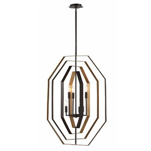 Morales Customizable 6-Light Geometric Chandelier by House of Hampton