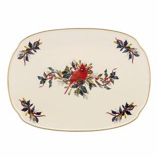 Winter Greetings Oblong Platter. by Lenox  sc 1 st  Wayfair & Lenox Winter Song Dinnerware | Wayfair