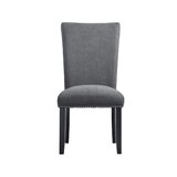 Aitza Upholstered Side Chair in Charcoal (Set of 2) by Latitude Run®
