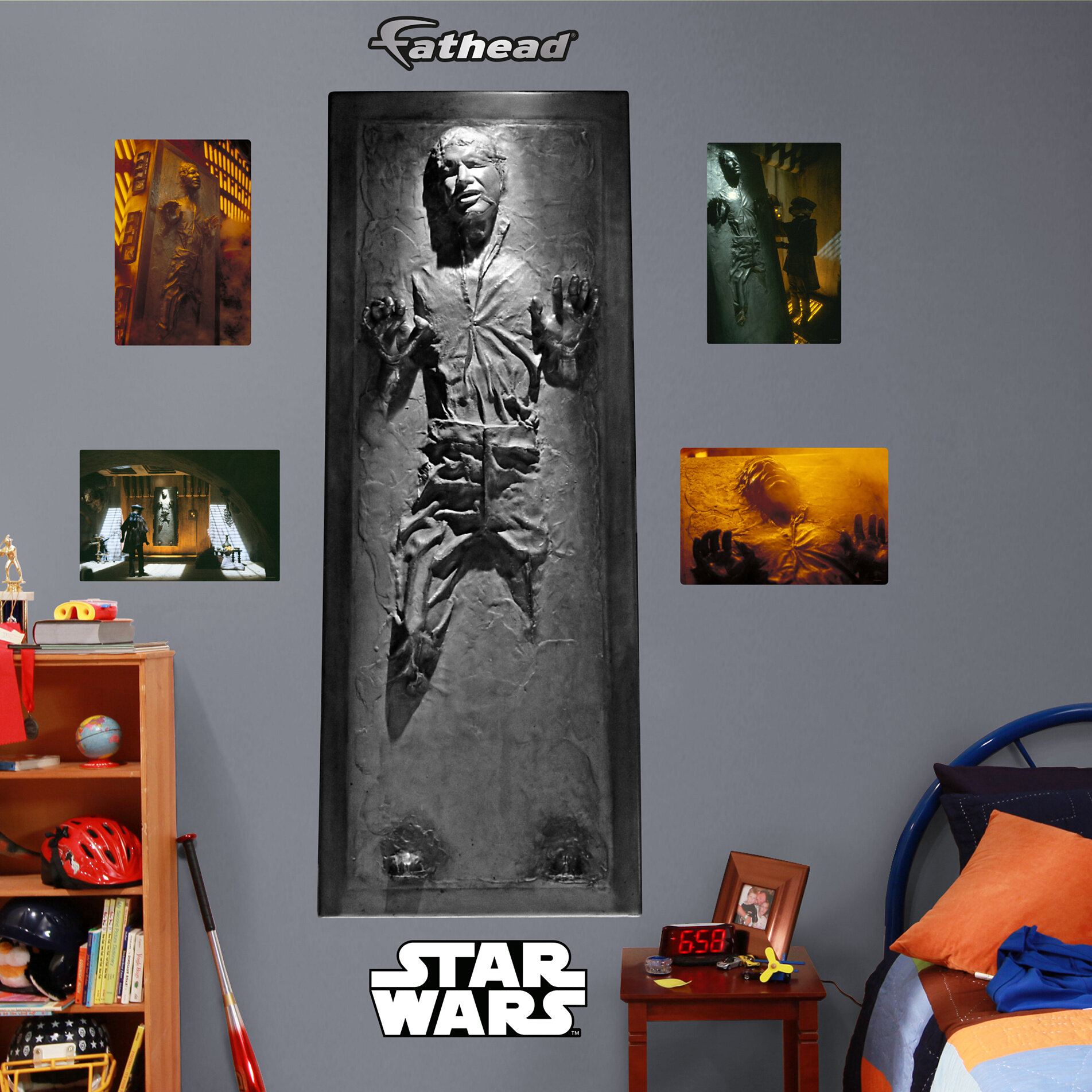 Fathead Lucas Star Wars Han Solo In Carbonite Wall Decal Reviews Wayfair