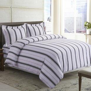 Tribeca Living Stripe Printed Deep Pocket Flannel Sheet Set
