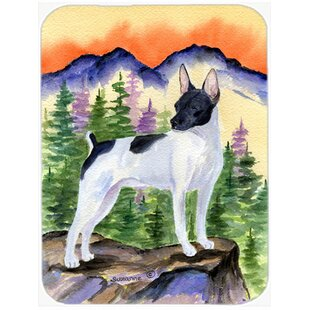 Rat Terrier Glass Cutting Board By Caroline's Treasures