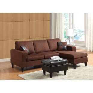 Latitude Run Reddy Sectional with Ottoman