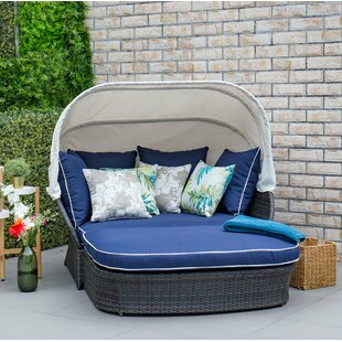 Tolbert Wicker Patio Daybed with Ottoman by Bay Isle Home