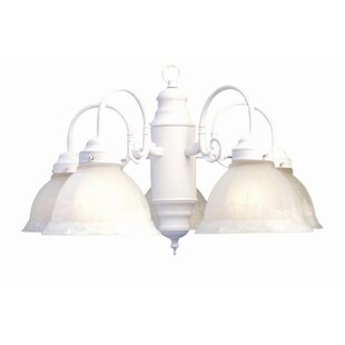 Woodbridge Lighting Basic 5-Light Shaded Chandelier