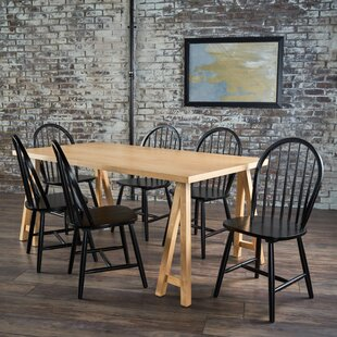 Pilla Cottage Faux Wood 7 Piece Dining Set