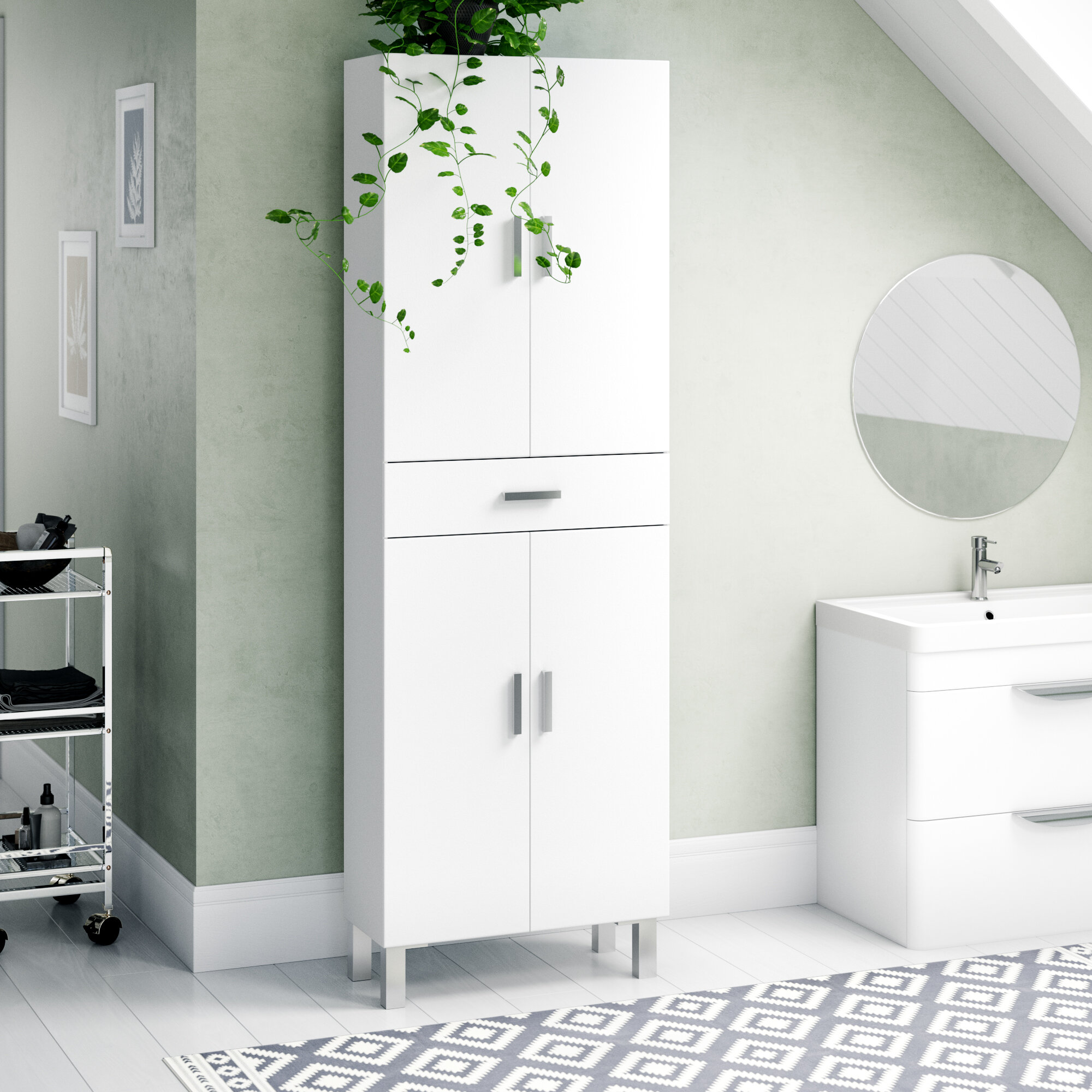 Marvelous Valdo 60Cm W X 182Cm H Bathroom Cabinet Download Free Architecture Designs Itiscsunscenecom