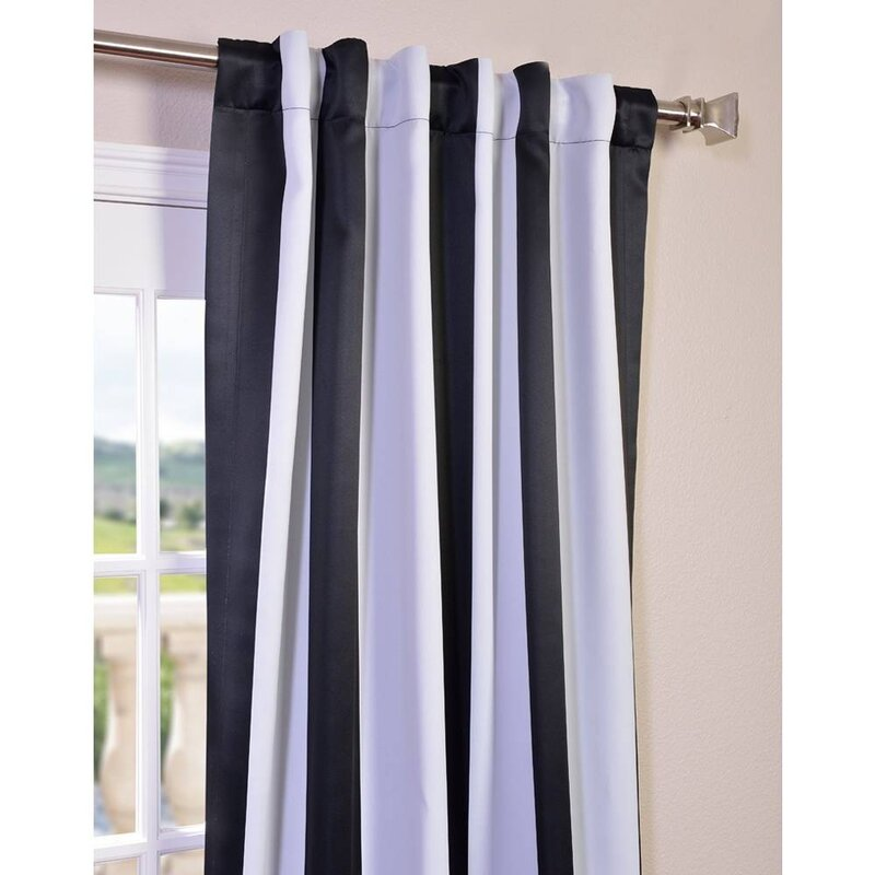 Clairsville Striped Blackout Thermal Rod Pocket Single Curtain Panel