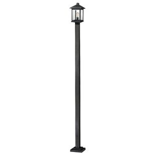 Bargain Leroy Contemporary 1-Light 112 Post Light By 17 Stories