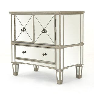 Sascha Mirrored 3 Drawer Cabinet by Rosdorf Park