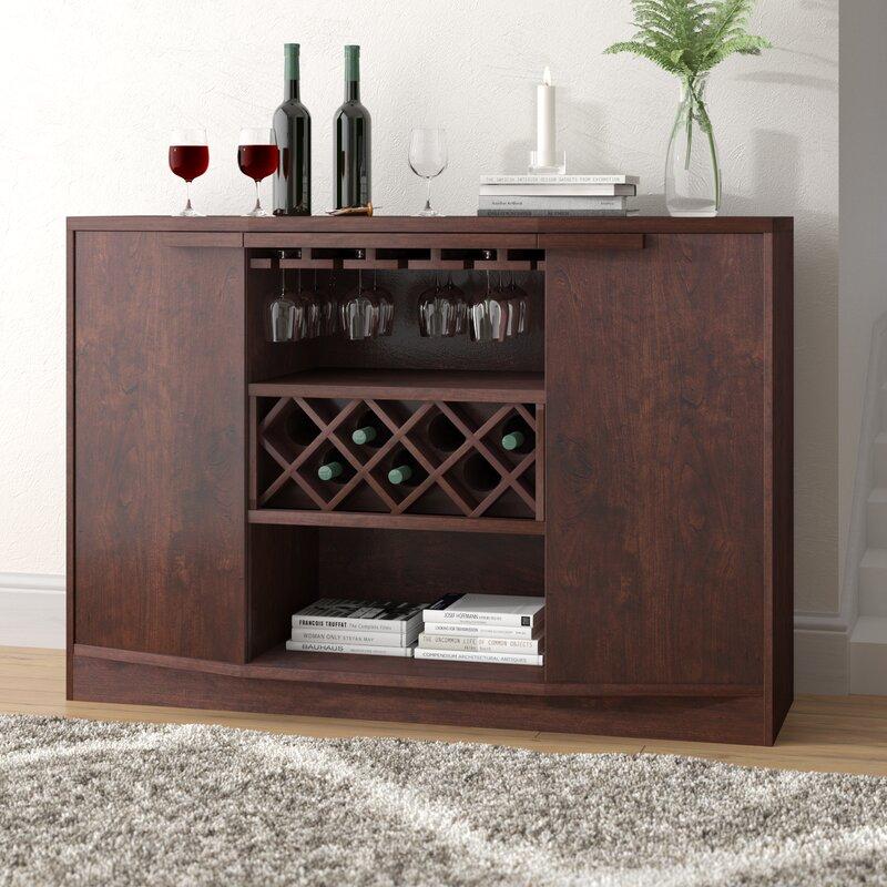 Wade Logan Xanthene Bar With Wine Storage Reviews Wayfair