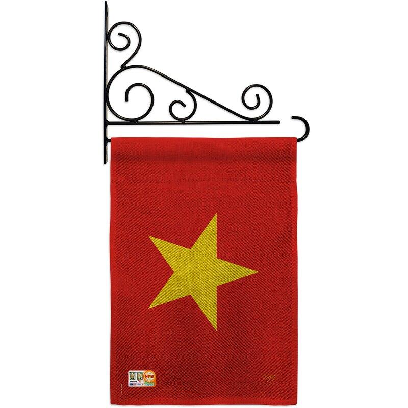 Breeze Decor Vietnam 2 Sided Burlap 19 X 13 In Garden Flag Wayfair